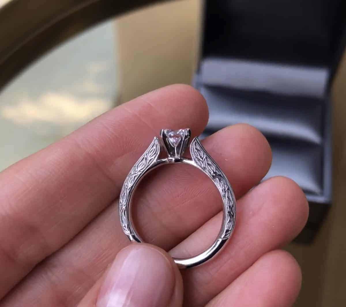 Годежен пръстен с диамант по поръчка от Ефир